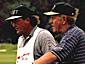 Caddy Mark Huber with Jack Nicklaus